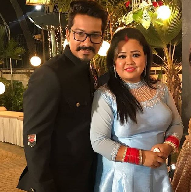 Bharti with Husband
