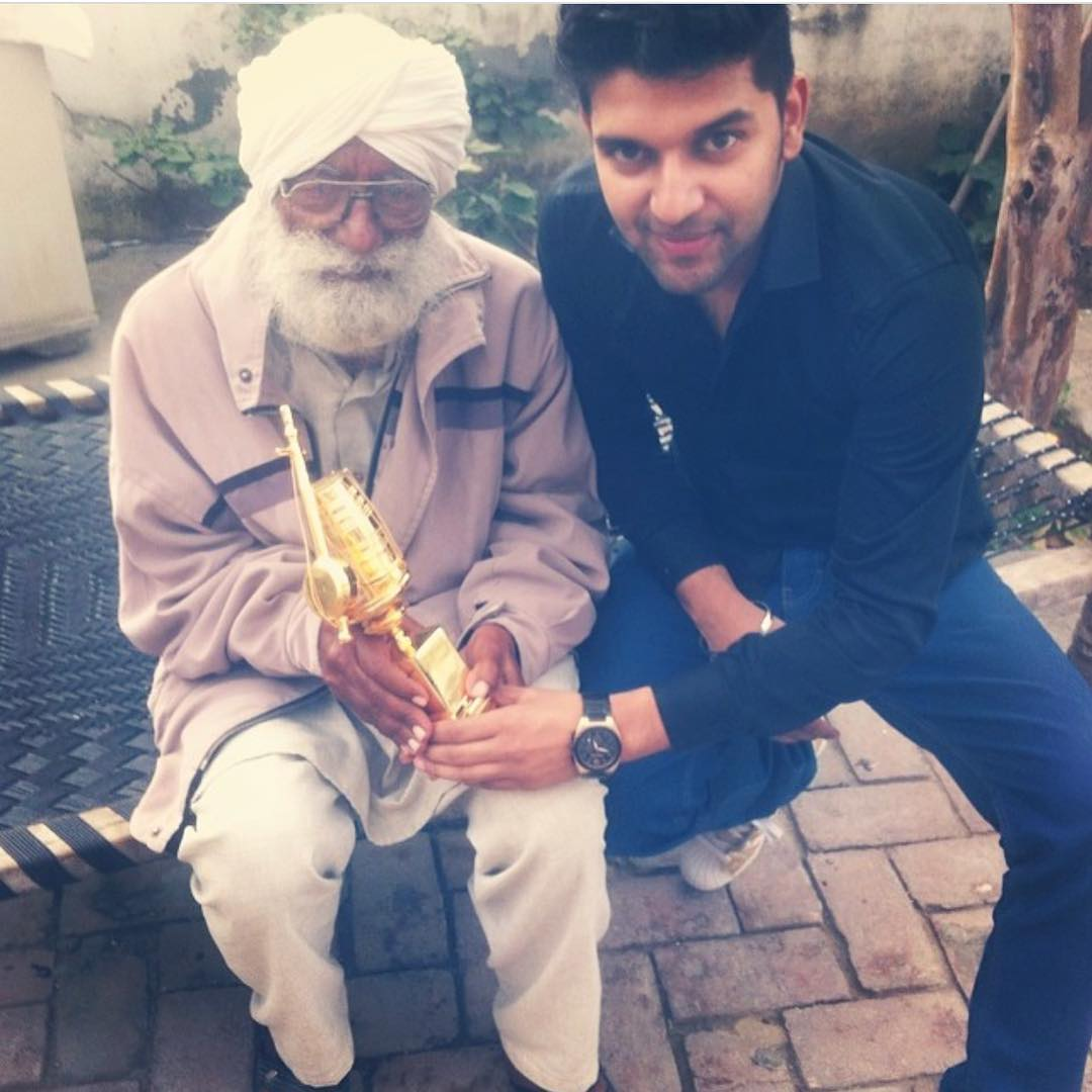 Guru Randhawa With His Grandfather