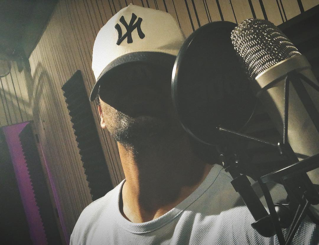 Hardy Sandhu during his recording
