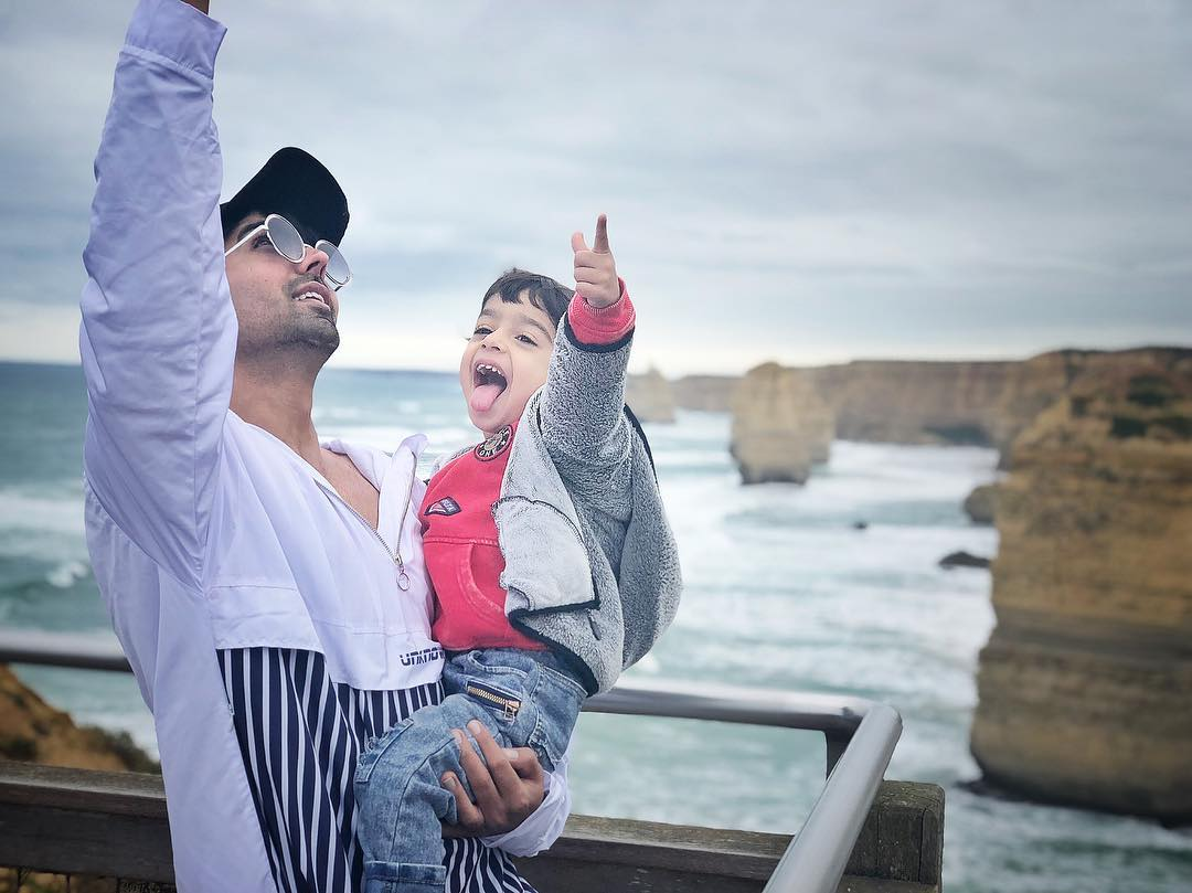 Hardy Sandhu with his son Niwaaz Sandhu