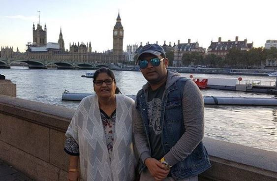 Kapil with his Mom