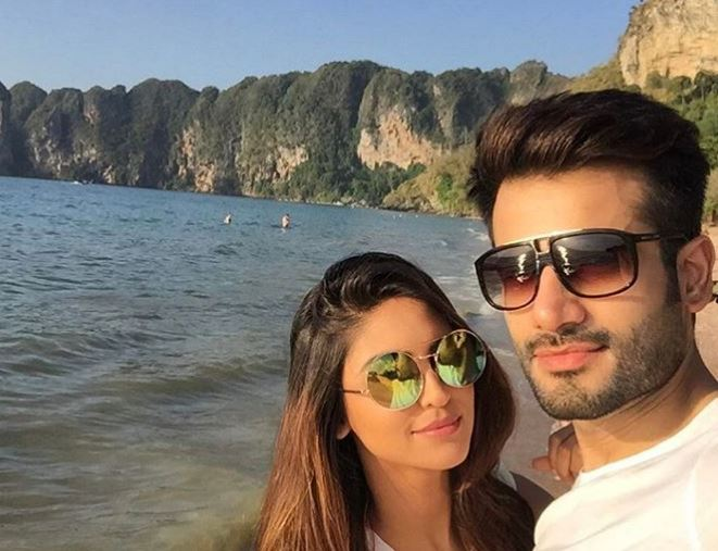 Krystle D'Souza with boyfriend
