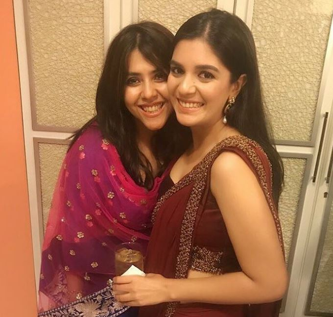 Pooja with Ekta Kapoor
