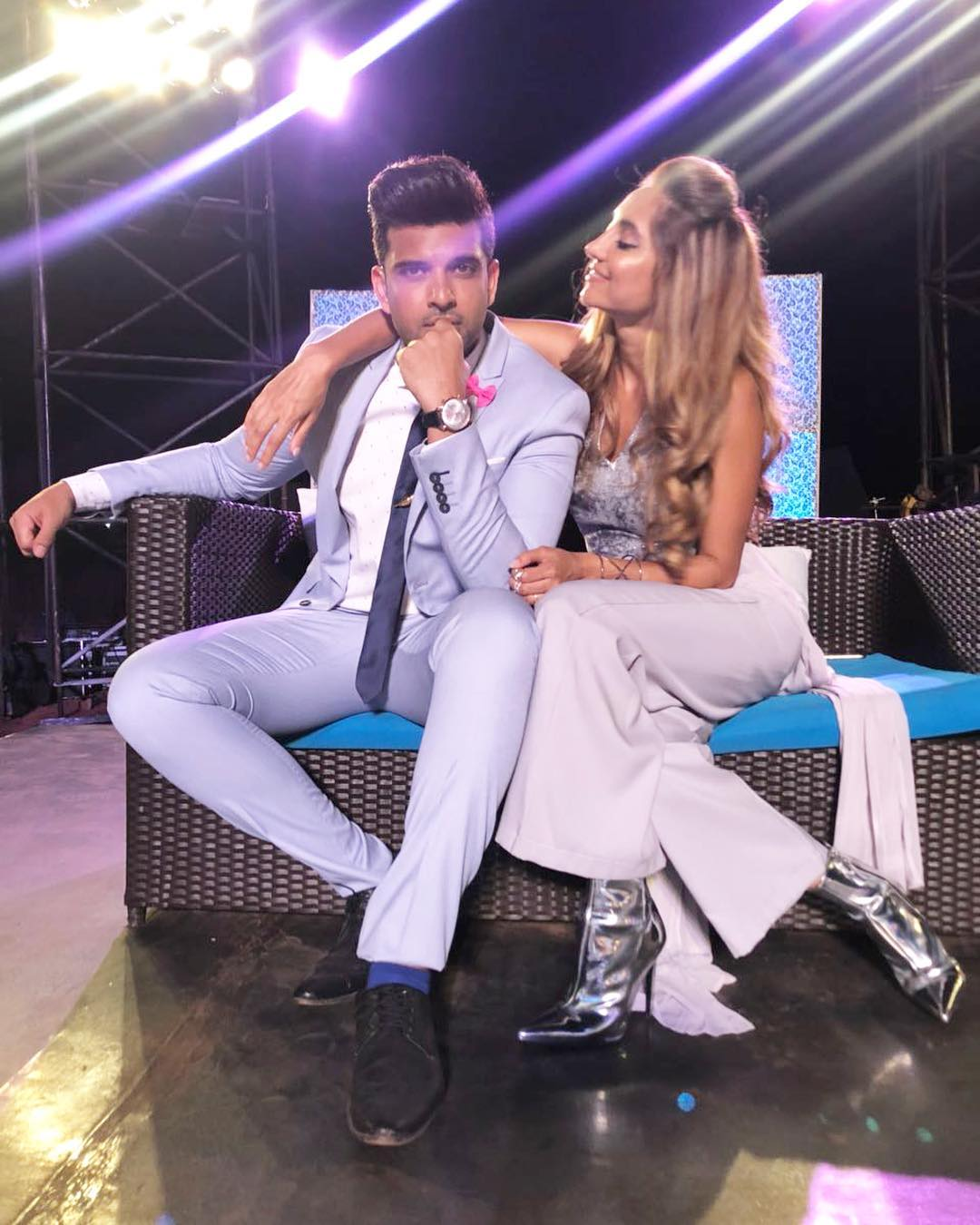 VJ Anusha with Karan Kundra in Love School Show