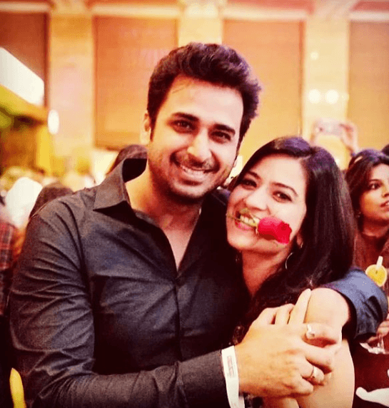 Aditi Sharma with Husband