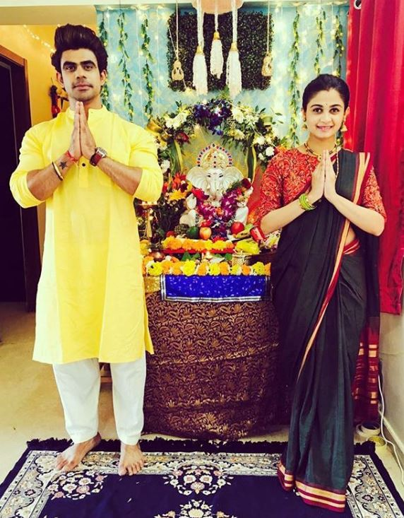 Ankit Mohan with his wife