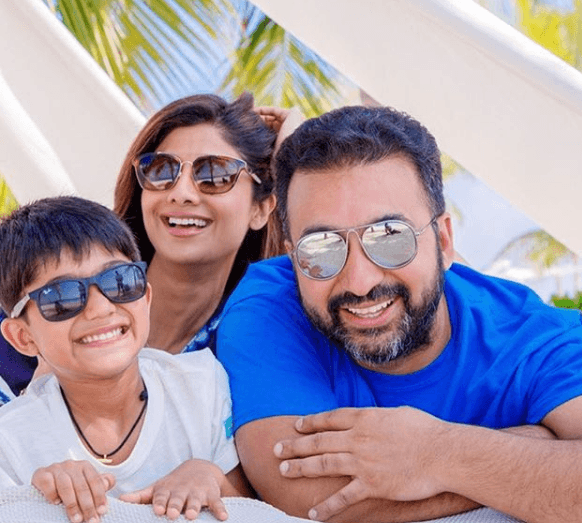 Raj Kundra with Family