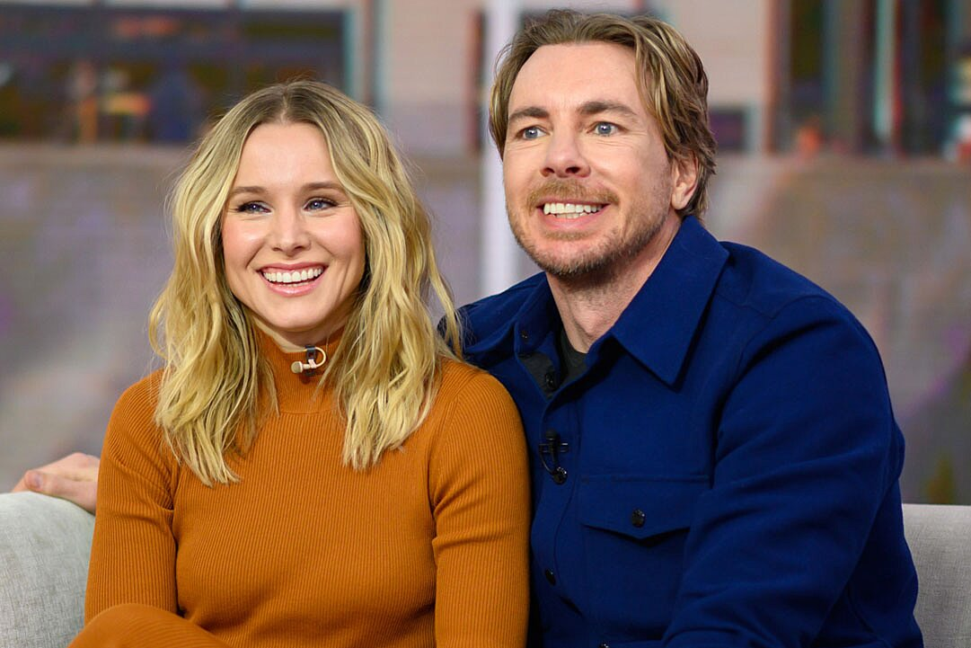 kristen bell with her husband
